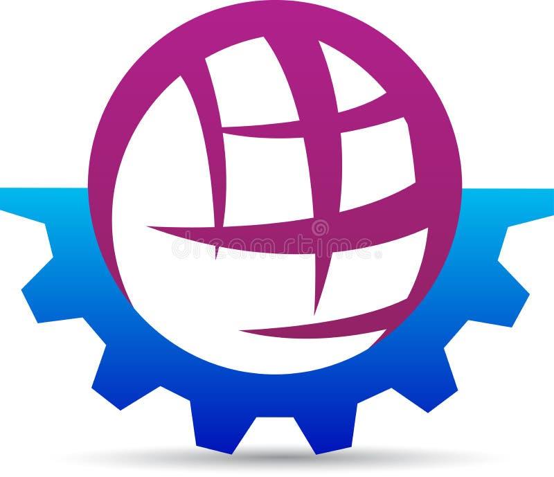 Gear globe vector illustration