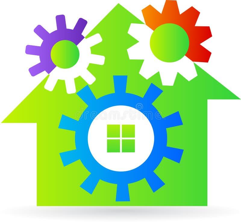 Gear home stock illustration
