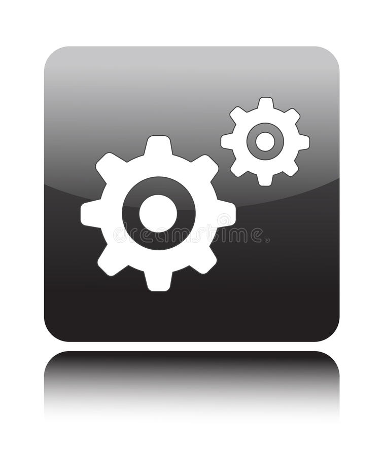 Gear icon stock illustration