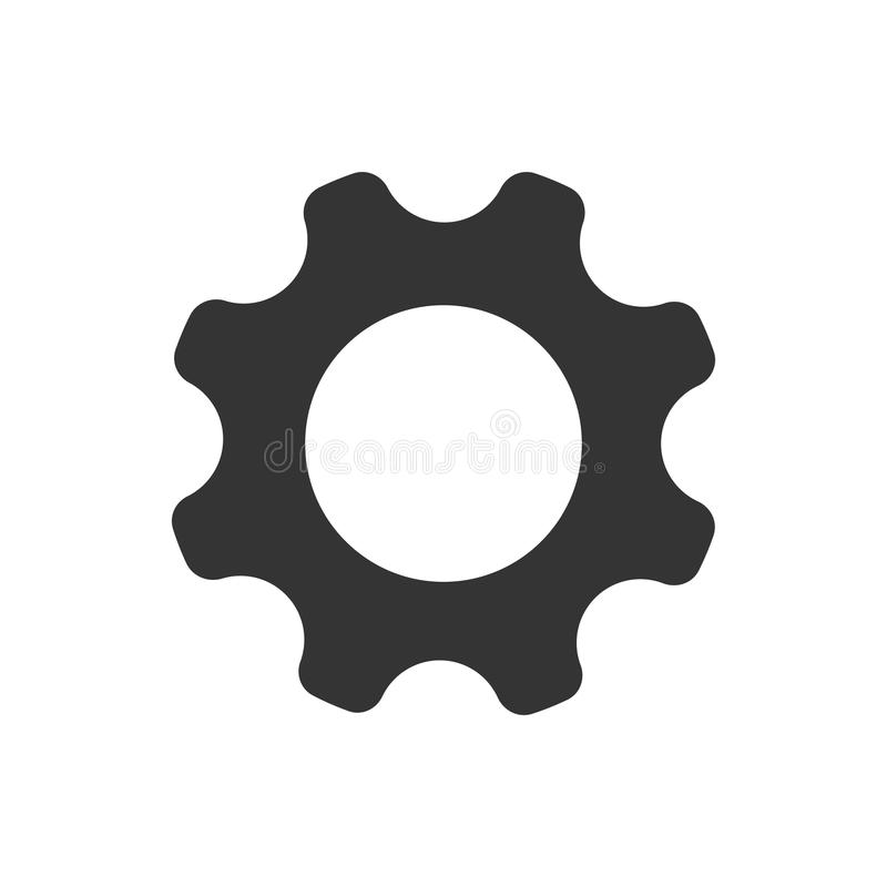 Gear Icon. Beautiful Meticulously Designed Gear Icon stock illustration