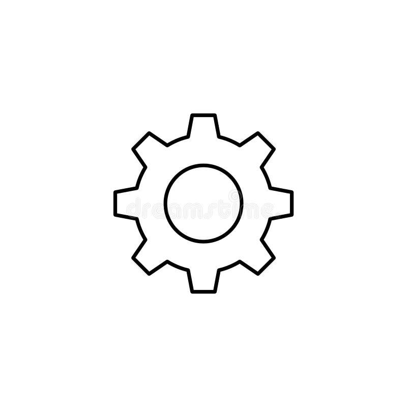 Gear icon. App setting button vector illustration