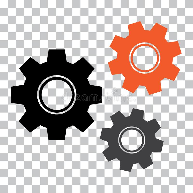 Gear icon. Colored mechanism. Vector illustration stock illustration