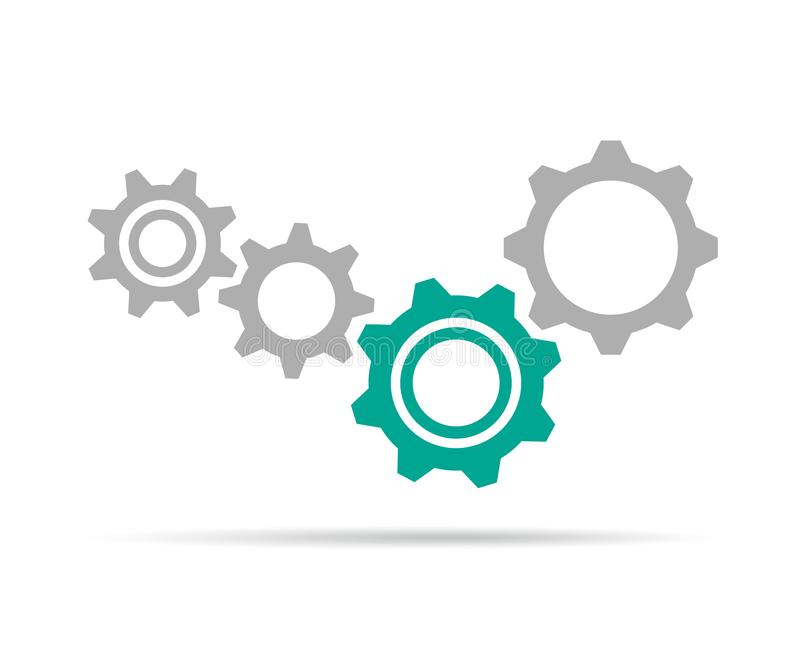 Gear icon engineering symbol for your web site. Vector illustration EPS10 vector illustration