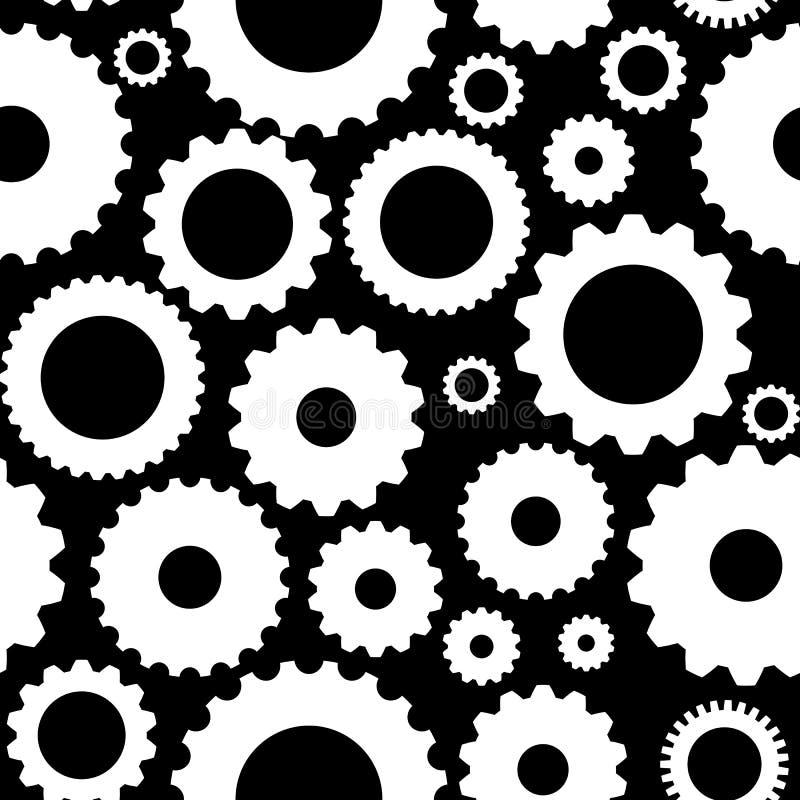 Gear Icon Seamless Pattern Vector Illustration royalty free illustration