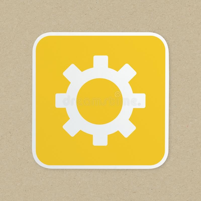 Gear icon set on background stock images
