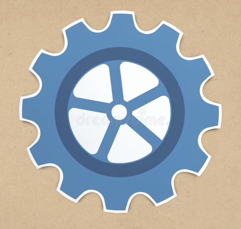 Gear icon set isolated on background royalty free stock photography