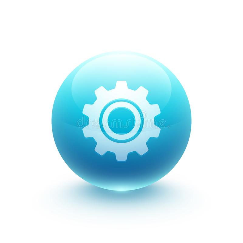 Gear icon sphere royalty free illustration