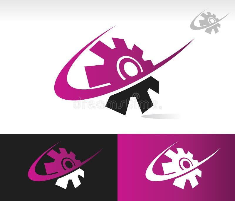 Swoosh Gear Icon stock illustration