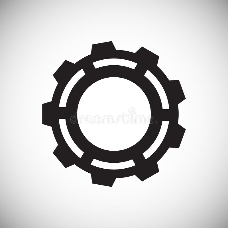 Gear icon on white background for graphic and web design, Modern simple vector sign. Internet concept. Trendy symbol for website. Design web button or mobile royalty free illustration