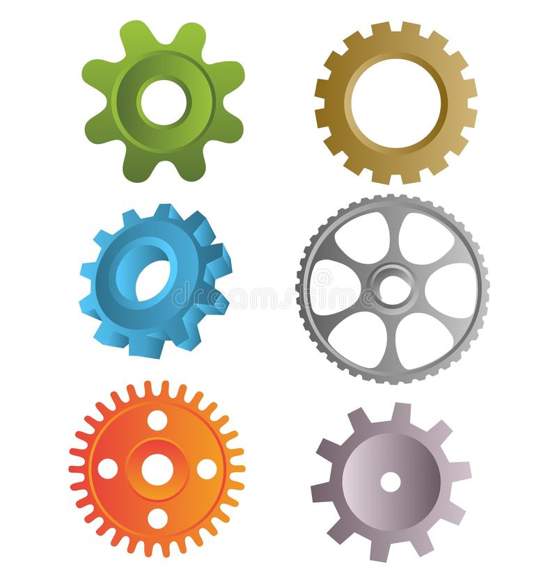 Download Gear icons stock vector. Illustration of equipment, group - 21909065