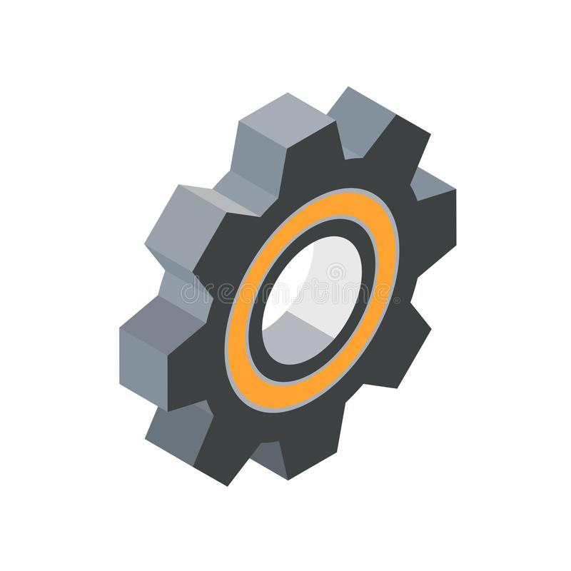 Gear isometric icon royalty free illustration