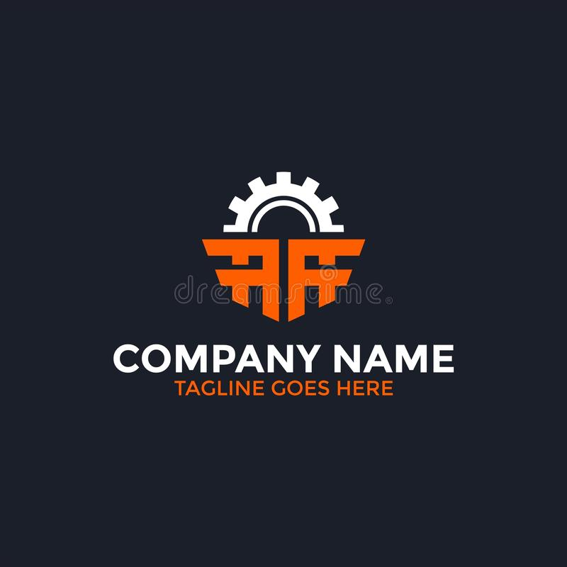 Gear Letter A Logo. Manufacturing Letter A Logo perfect for your business stock illustration