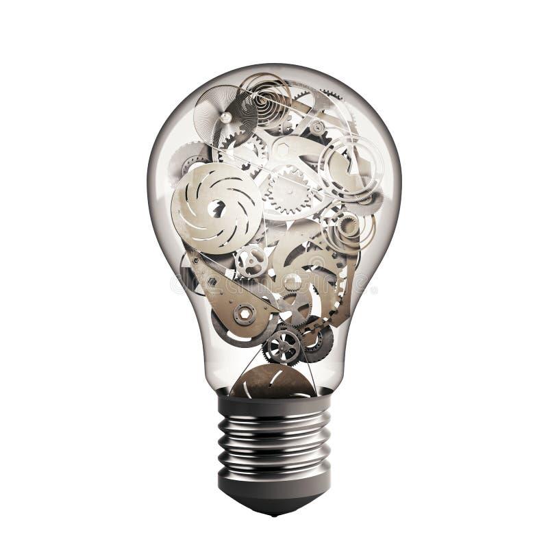 Gear in the lightbulb royalty free illustration