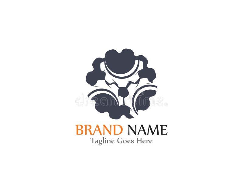 Gear Logo creative Template vector icon illustration design. Symbol, modern, technology, concept, wheel, mechanic, industry, business, element, circle, emblem vector illustration
