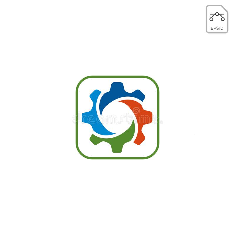 gear logo design abstract business vector isolated vector illustration