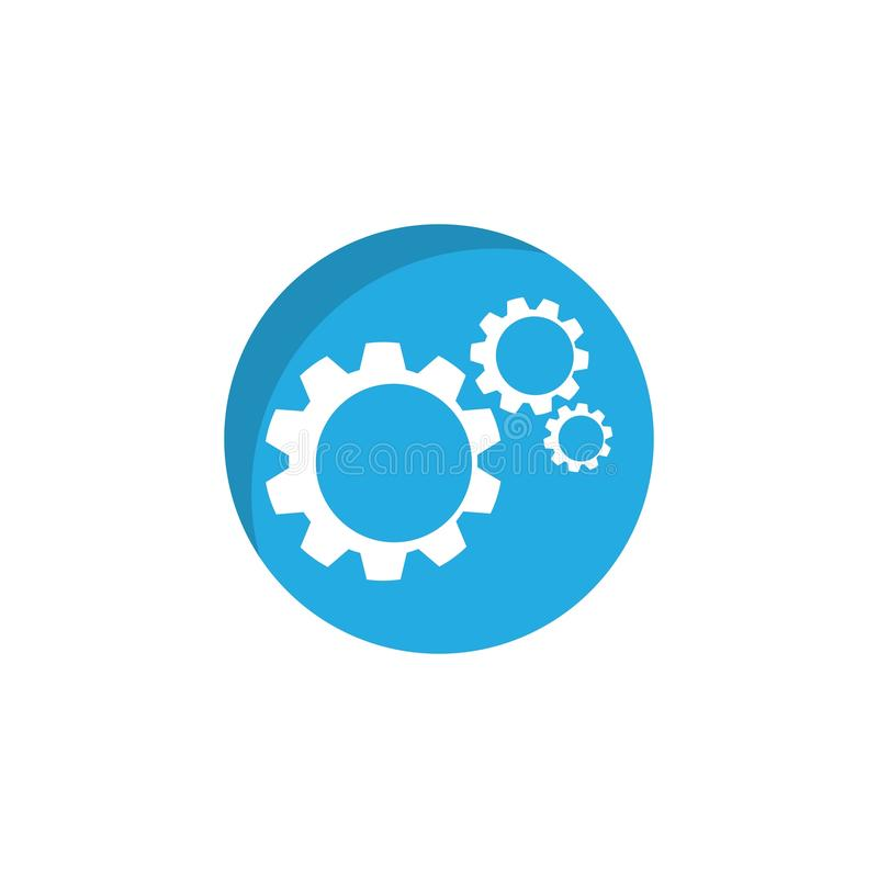 Gear logo symbol vector icon illustration. Gear logo symbol vector icon illustration, bold, circle, clean, clear, engine, engineer, factory, industry, iron stock illustration
