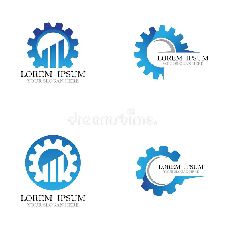 Gear logo symbol vector icon illustration. Gear logo symbol vector icon illustration, bold, circle, clean, clear, engine, engineer, factory, industry, iron vector illustration