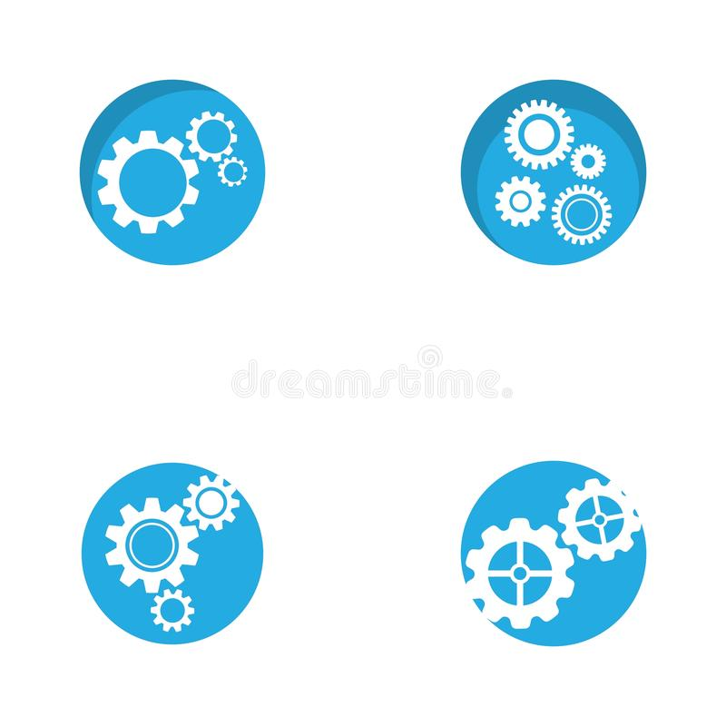 Gear logo symbol vector icon illustration. Gear logo symbol vector icon illustration, bold, circle, clean, clear, engine, engineer, factory, industry, iron royalty free illustration
