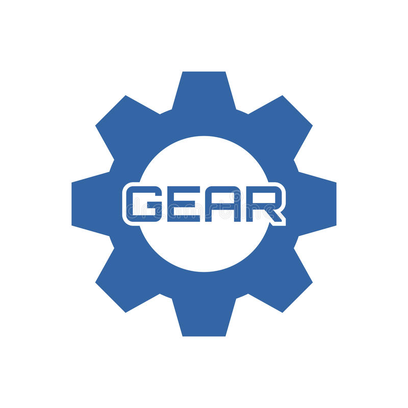 Gear logo template. Use for your brand, bussines, product, shop etc. You can add name/text even edit the logo royalty free illustration