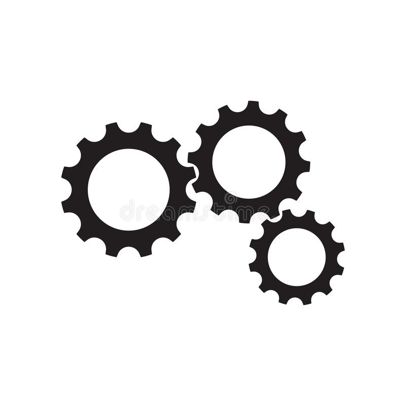 Gear Logo Template vector icon illustration. Design, bold, circle, clean, clear, engine, engineer, factory, industry, iron, machine, manufacture, mechanic vector illustration