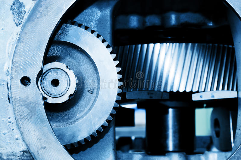 Gear machine industrial elements close-up. Industry stock photography