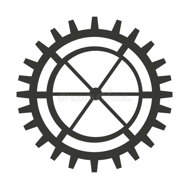Gear machine style isolated icon design. Illustration graphic royalty free stock photo