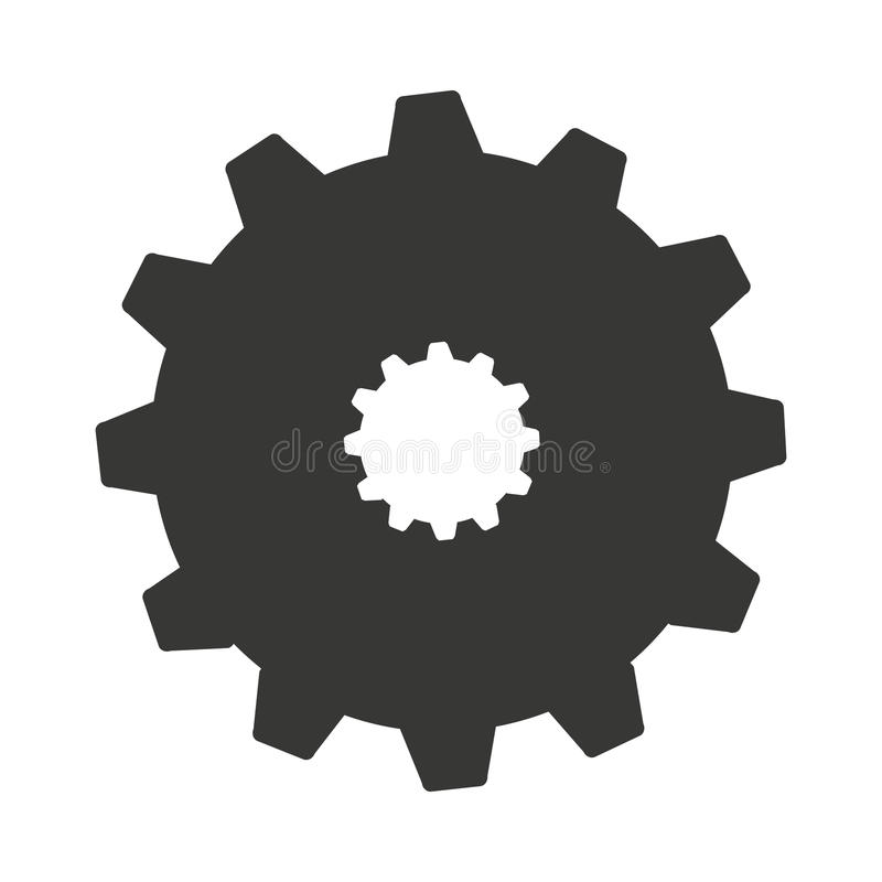 Gear machine style isolated icon design. Illustration graphic stock photography