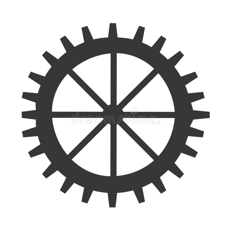 Gear machine style isolated icon design. Illustration graphic stock image