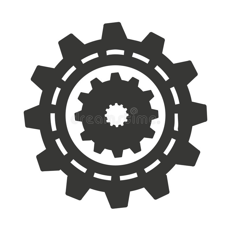 Gear machine style isolated icon design. Illustration graphic stock photos