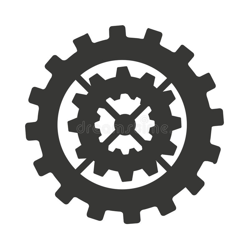 Gear machine style isolated icon design. Illustration graphic royalty free stock photos
