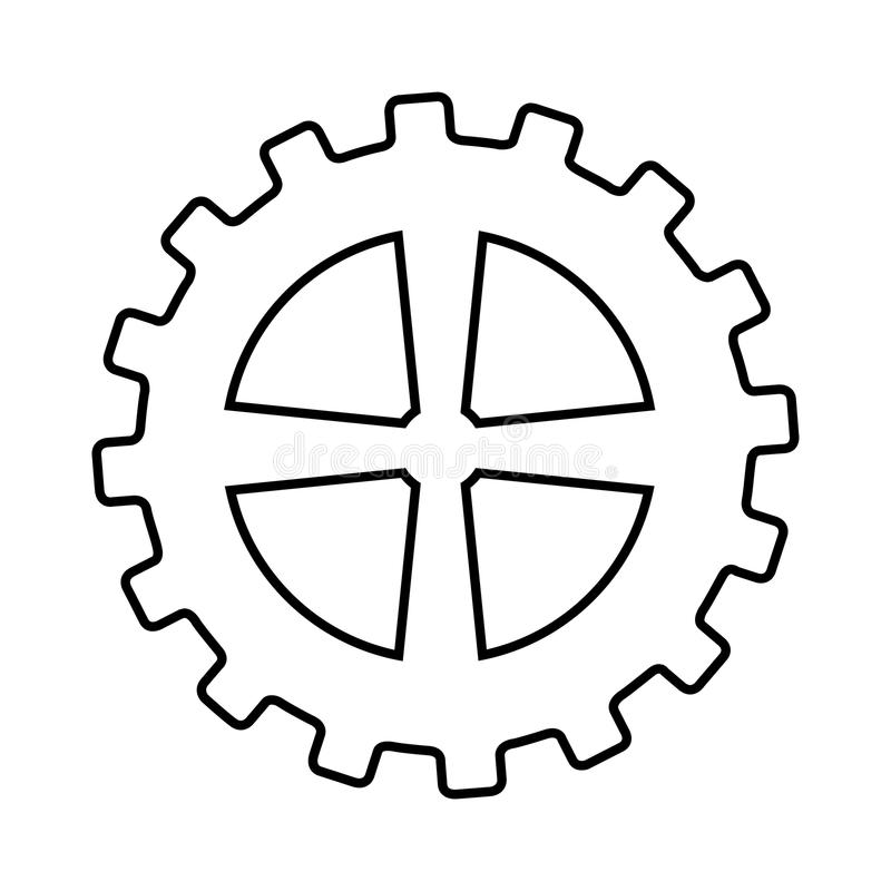 Gear machine style isolated icon design. Illustration graphic royalty free stock photography