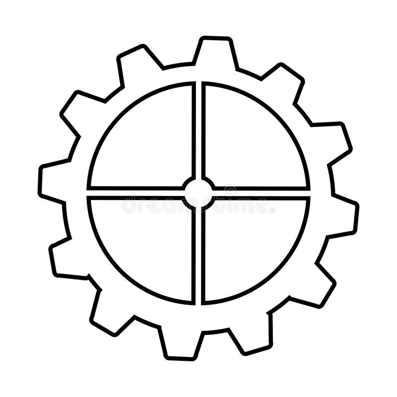 Gear machine style isolated icon design. Illustration graphic royalty free stock images