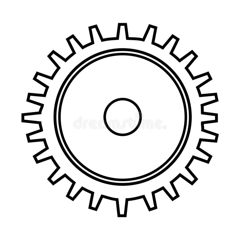 Gear machine style isolated icon design. Illustration graphic stock images