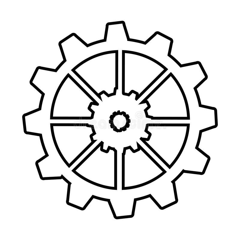 Gear machine style isolated icon design. Illustration graphic stock photo