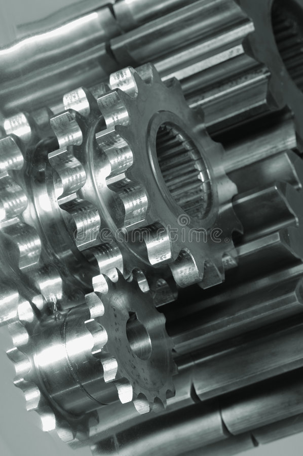 Gear-machinery in black/white stock photos