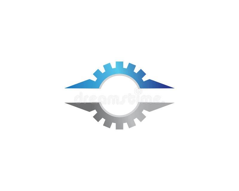 Gear machinery logo icon vector illustration