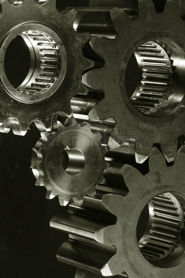 Gear-machinery In Old-bronze Toning Free Stock Photos