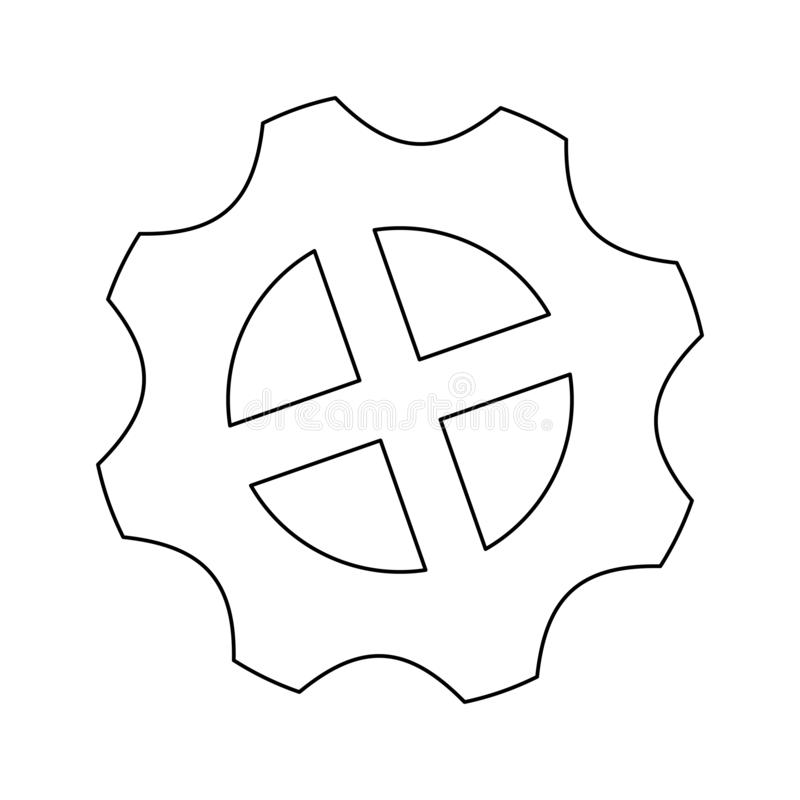 Gear machinery piece black and white. Gear machinery piece symbol vector illustration graphic design vector illustration