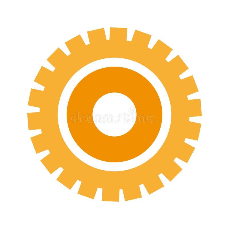 Gear machinery piece. Vector illustration graphic design stock illustration