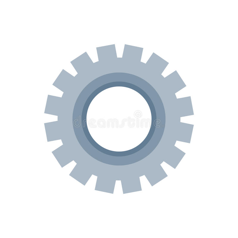 Gear machinery piece vector illustration