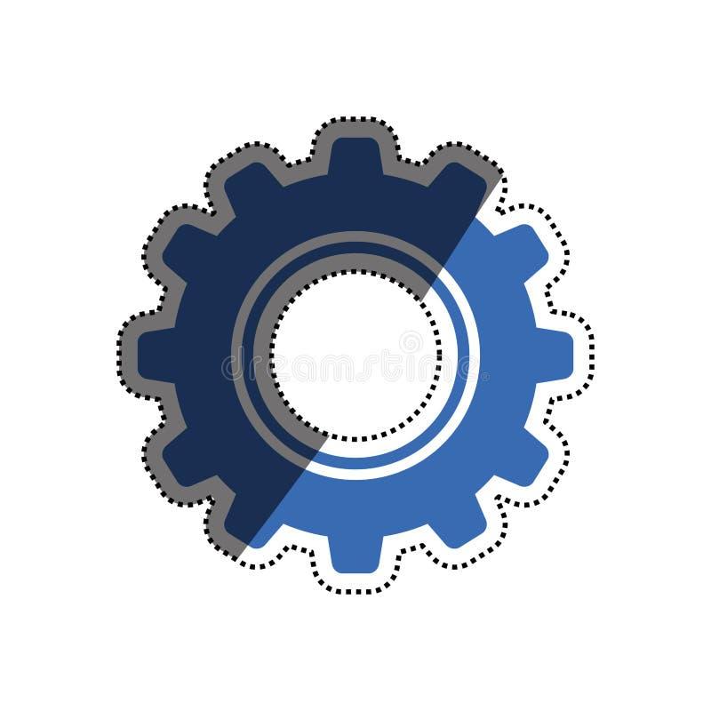 Gear machinery piece royalty free illustration