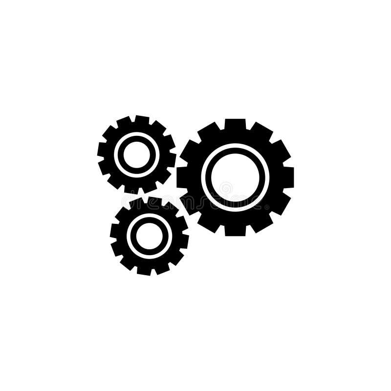 Gear machinery piece icon vector illustration graphic design. Logo vector illustration