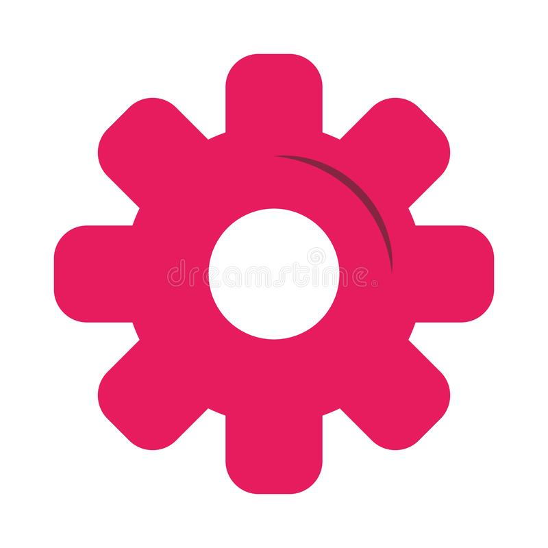 Gear machinery piece symbol isolated stock illustration