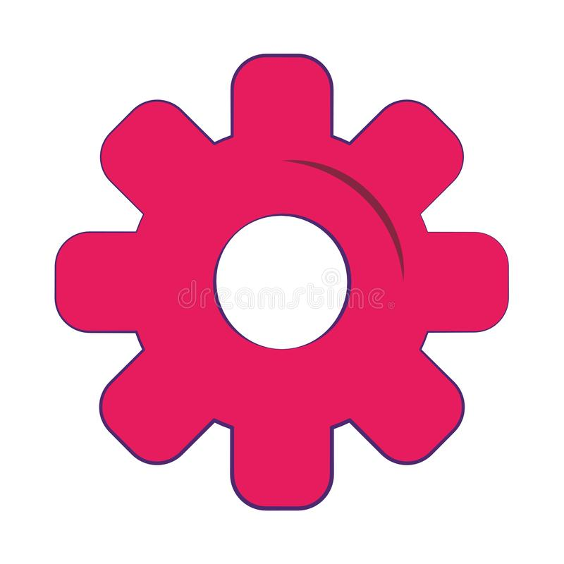 Gear machinery piece symbol isolated royalty free illustration