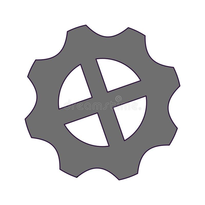 Gear machinery piece stock illustration