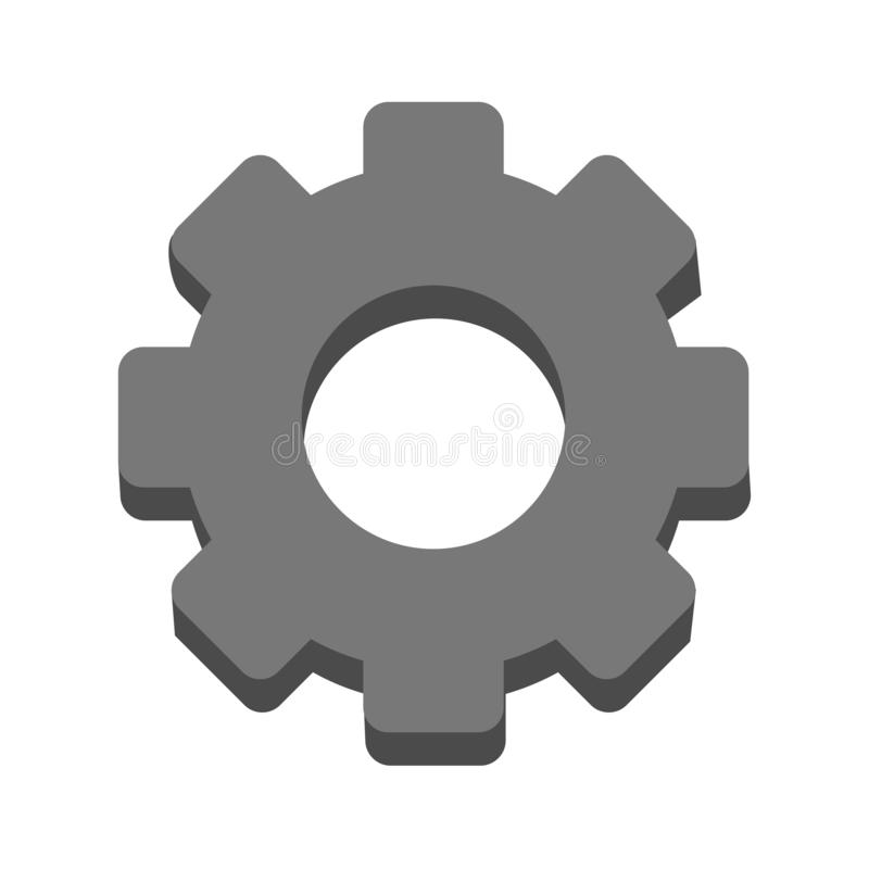 Gear machinery piece symbol vector illustration