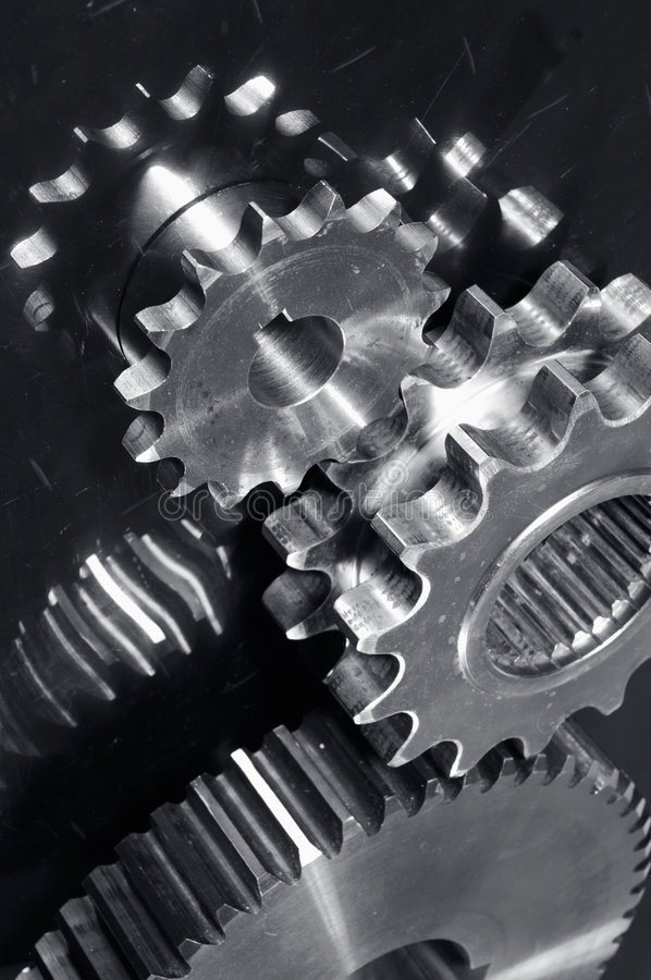 Download Gear machinery in titanium stock image. Image of geometric - 3171467