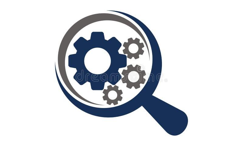 Gear Magnify Template. Gear Magnify Logo Design Template Vector vector illustration