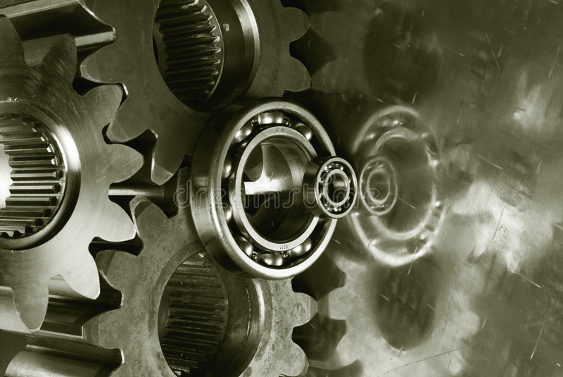 Gear-mechanics with duplex-effect royalty free stock image