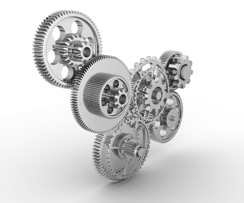 Download Gear mechanism stock illustration. Image of complexity - 21280056